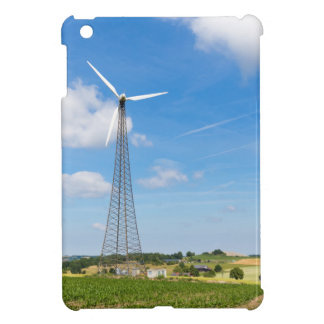 Two windmills in rural area with blue sky cover for the iPad mini