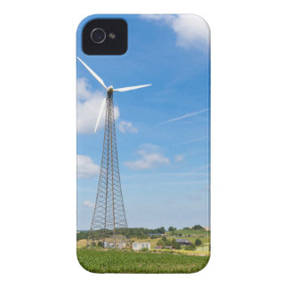 Two windmills in rural area with blue sky iPhone 4 cover