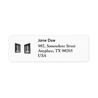 Two Windows Return Address Label