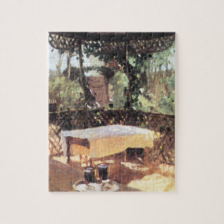 Two Wine Glasses by Sargent, Vintage Impressionism Jigsaw Puzzle