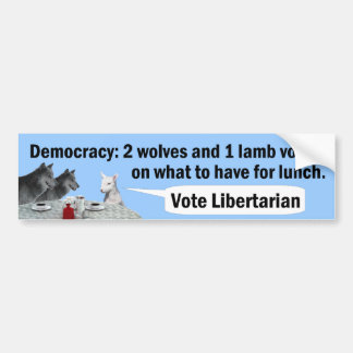 Two Wolves and a Lamb Bumper Sticker