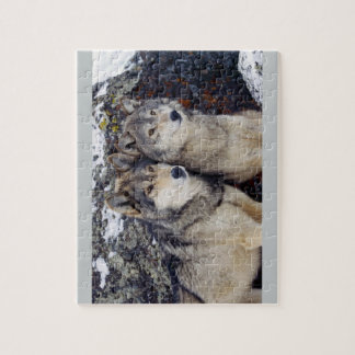 Two Wolves Jigsaw Puzzle