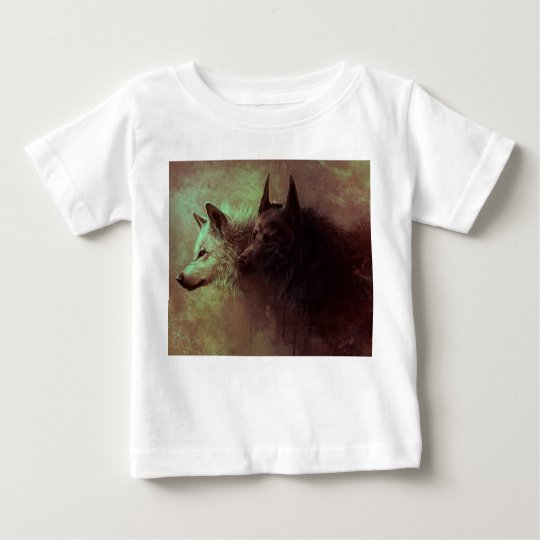 two wolves - painting wolf baby T-Shirt