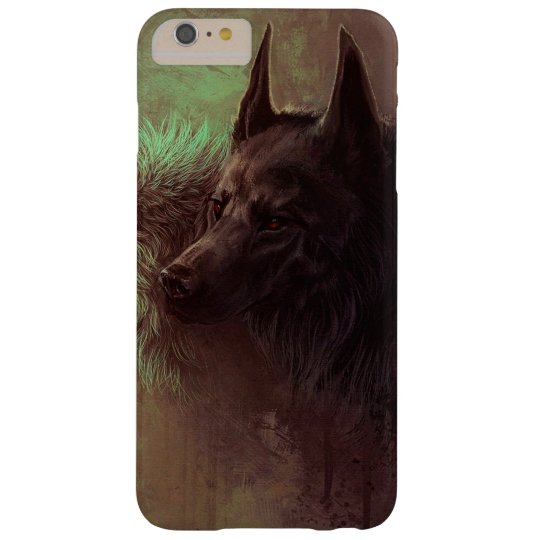 two wolves - painting wolf barely there iPhone 6 plus case