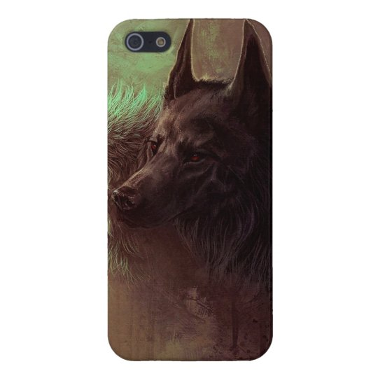 two wolves - painting wolf case for iPhone 5/5S