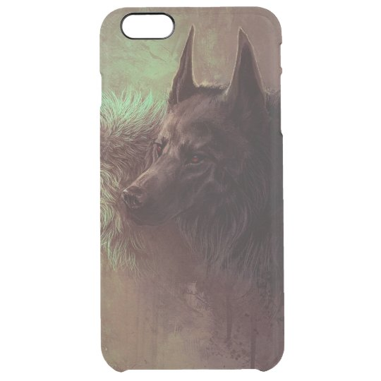 two wolves - painting wolf clear iPhone 6 plus case
