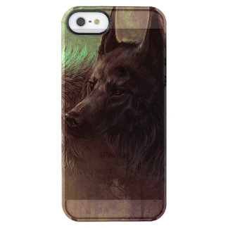 two wolves - painting wolf clear iPhone SE/5/5s case