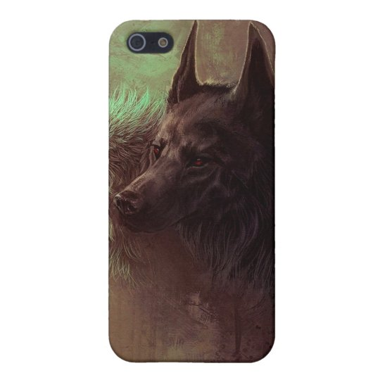 two wolves - painting wolf iPhone 5/5S cover