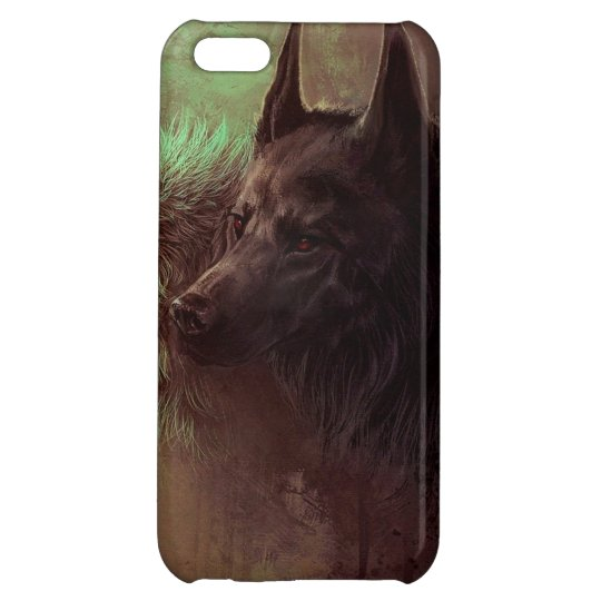 two wolves - painting wolf iPhone 5C cases