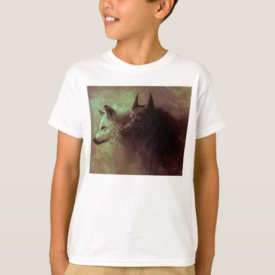 two wolves - painting wolf T-Shirt