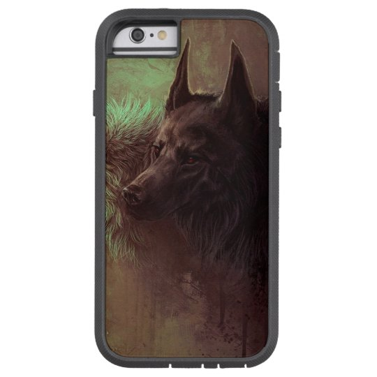 two wolves - painting wolf tough xtreme iPhone 6 case
