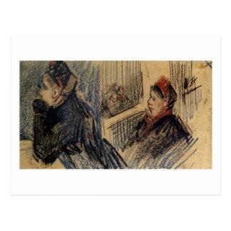 Two Women in a Balcony Box Van Gogh Fine Art Postcard