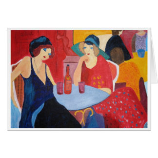 Two Women in a Cafe Card