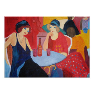 Two Women in a Cafe - Print