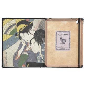 Two Women Under an Umbrella Kitagawa Utamaro art iPad Cover