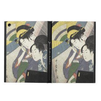 Two Women Under an Umbrella Kitagawa Utamaro art Cover For iPad Air