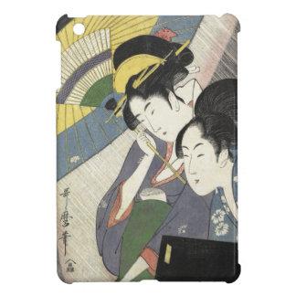 Two Women Under an Umbrella Kitagawa Utamaro art iPad Mini Covers