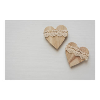 two wooden hearts poster