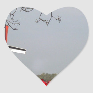Two-working-windmills-at-Zaanse-Schans-Holland-Ang Heart Stickers