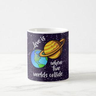 Two Worlds Collide Coffee Mug