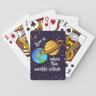 Two Worlds Collide Playing Cards