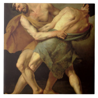 Two Wrestlers Tile