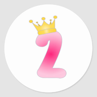 Two Year Old Birthday Princess Stickers