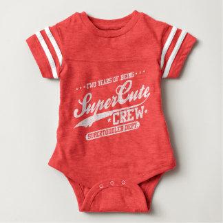 Two Years Of Being Supercute Crew (2nd Birthday) Baby Bodysuit
