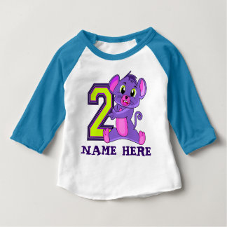 Two Years Old, 2nd birthday Baby T-Shirt
