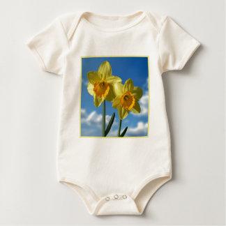Two yellow Daffodils 2.2 Baby Bodysuit