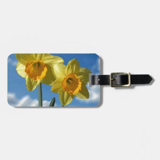 Two yellow Daffodils 2.2 Luggage Tag