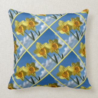 Two yellow Daffodils 2.2.P Throw Pillow