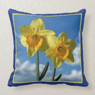 Two yellow Daffodils 2.2 Throw Pillow