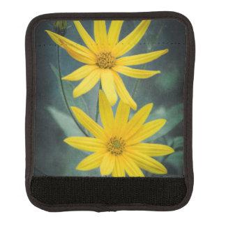 Two yellow flowers of Jerusalem artichoke Luggage Handle Wrap