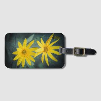 Two yellow flowers of Jerusalem artichoke Luggage Tag