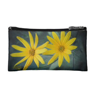 Two yellow flowers of Jerusalem artichoke Makeup Bag
