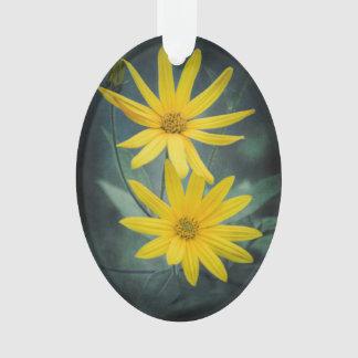 Two yellow flowers of Jerusalem artichoke Ornament