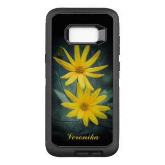 Two yellow flowers of Jerusalem artichoke OtterBox Defender Samsung Galaxy S8+ Case