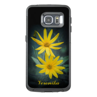 Two yellow flowers of Jerusalem artichoke OtterBox Samsung Galaxy S6 Edge Case
