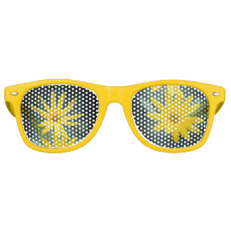 Two yellow flowers of Jerusalem artichoke Retro Sunglasses