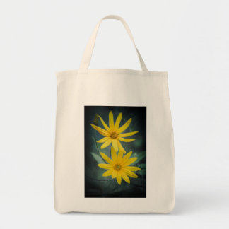 Two yellow flowers of Jerusalem artichoke Tote Bag