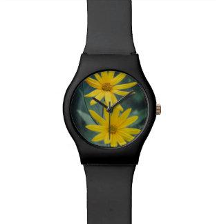 Two yellow flowers of Jerusalem artichoke Watch