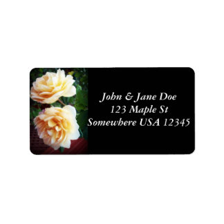 Two Yellow Roses Address Label