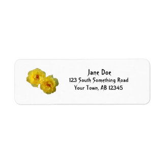 Two Yellow Roses Return Address Label