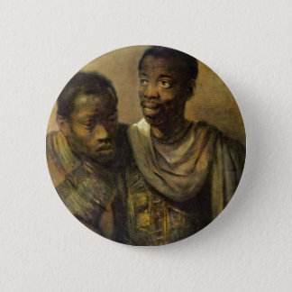 Two Young Africans., Jonge  By Rembrandt Van Rijn 2 Inch Round Button