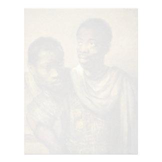 Two Young Africans., Jonge  By Rembrandt Van Rijn Letterhead