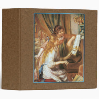 Two Young GIrls at the Piano Binder