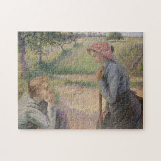 Two Young Peasant Women Jigsaw Puzzle