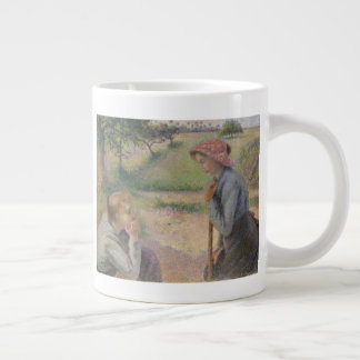 Two Young Peasant Women Large Coffee Mug