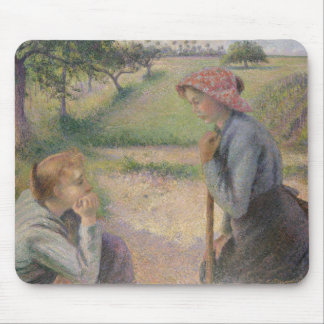 Two Young Peasant Women Mouse Pad